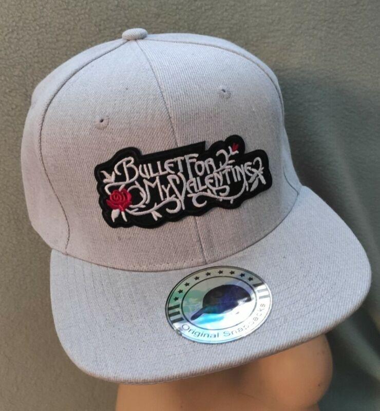 Bullet For My Valentine Snapback Heather Gray Flat Bill Ball Cap Hat