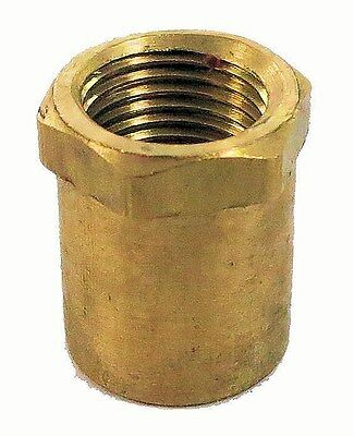 """Unfinished brass coupling w/ hex nut  3/8"""" holes    TV-35"""