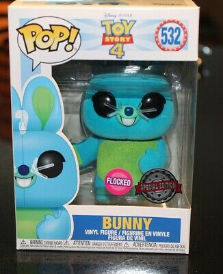 Funko Pop Toy Story 4 Bunny 532 Flocked Special Edition Vinyl Figure - New