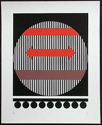 Isia Leviant, Serigraphie, signiert, e.a., OP-ART