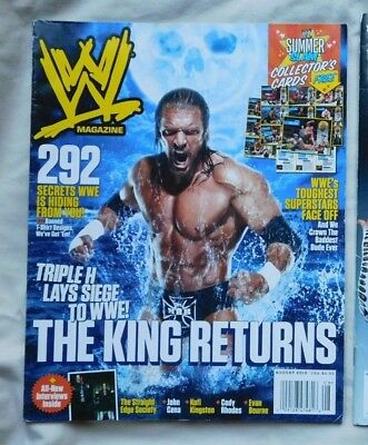 WWE MAGAZINE August 2010 TRIPLE H