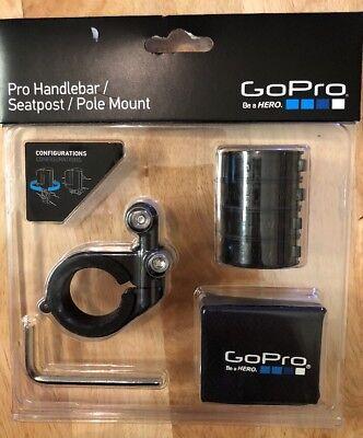 Black Mounting Pole - GoPro Pro Handlebar/Seatpost/Pole Mount AMHSM-001 for HERO5 & HERO6