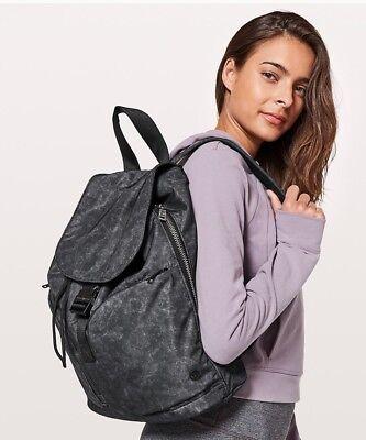 LULULEMON Carry Onward Rucksack Backpack Black Ice Grey 12L  NEW Sold Out