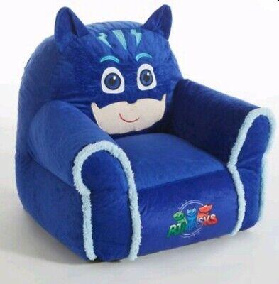 PJ Masks Catboy Kids Plush Sofa Bean Bag Chair With Sherpa Trimming
