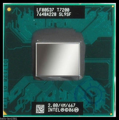 USA! Intel SL9SF Core 2 Duo Mobile T7200 2.00GHz/4MB/667MHz Socket M CPU Refurb 4mb Core 2 Duo Mobile