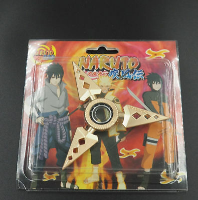 2Pcs Naruto Sasuke Hand Alloy Shuriken Spinner Toy Halloween Cosplay Prop US