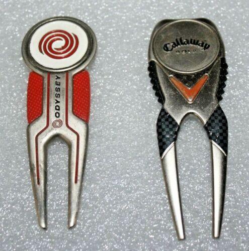 Rare ODYSSEY & CALLAWAY Golf Divot Repair Tool & Ball Marker