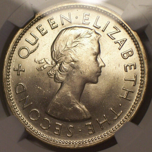 British Rhodesia, 1953 Elizabeth II Crown. NGC MS 65. 124,000 Mintage.