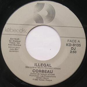 CORBEAU-Marjo-Illegal-Elle-PROMO-1982-Canada-QUEBEC-HARD-ROCK-45-LISTEN