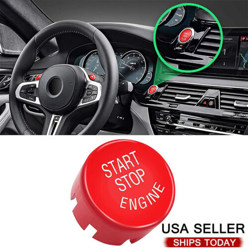 Red Engine Start Stop Push Button Cover Trim For BMW F20 F23 F30 F32 F10 F12 F48 Car & Truck Parts