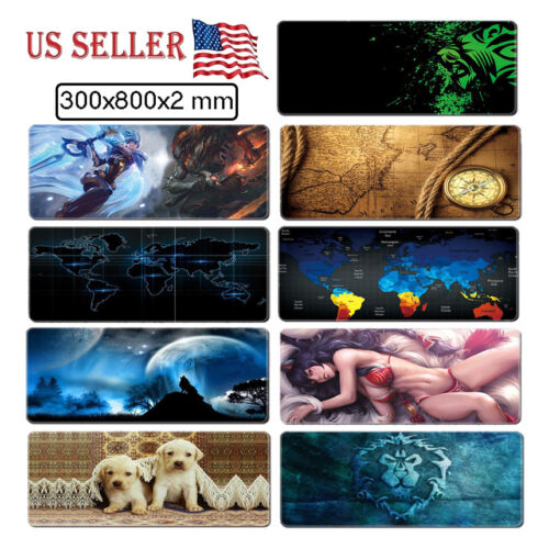 Extended Gaming Computer Mouse Pad Wide Large Size Desk Keyb