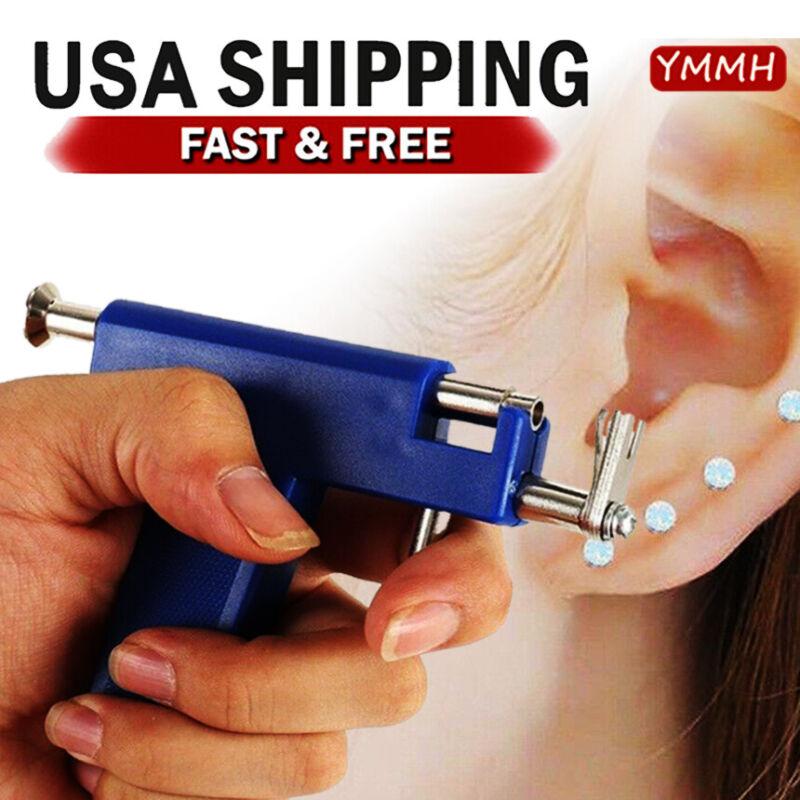 Professional Ear Piercing Gun with 98pcs Studs Kit Tool Set Ear Nose Navel Body