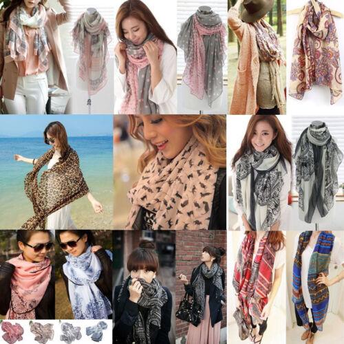 Scarf - New Fashion Women Soft Voile Cotton Scarf Wrap Silk Chiffon Shawl Stole Scarves