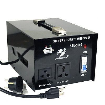 Goldsource 3000 Watt Step Up Down 110V 220V Voltage Converter Transformer