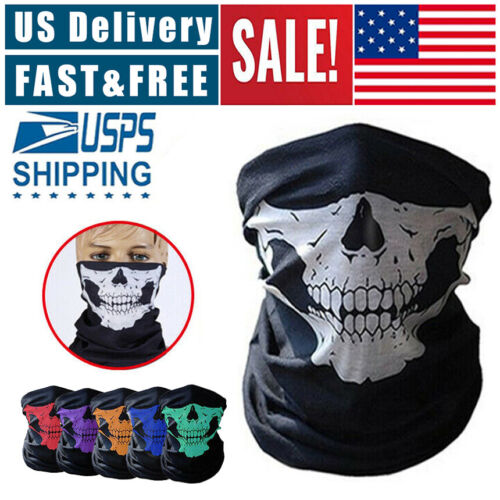 Motorcycle Face Mask Bicycle Ski Skull Half Face Mask Ghost Scarf 2020 Winter Clothing