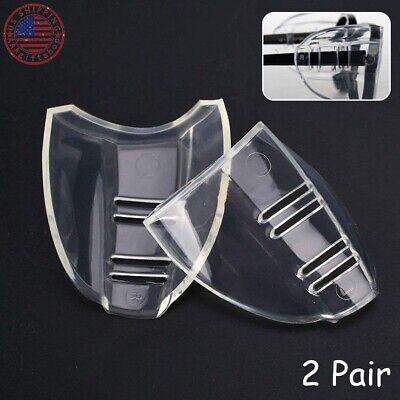 2 Pairs Side Shields For Eye Glasses Slip On Safety Glasses Shield Universal