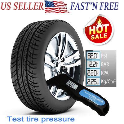 Digital LCD Tire Air Pressure Guage Meter Tester Tyre Gauge for Car Bike (Pressure Gauge For Car & Bike Tyres)