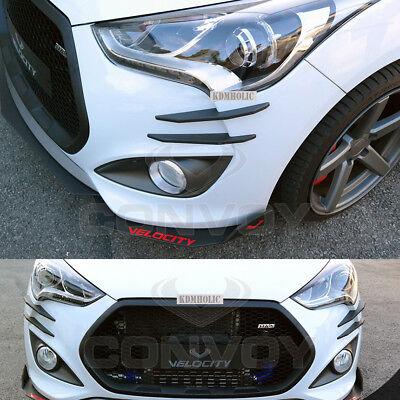 Velocity Front Canards Set for Hyundai Veloster Turbo  [Matte Black]