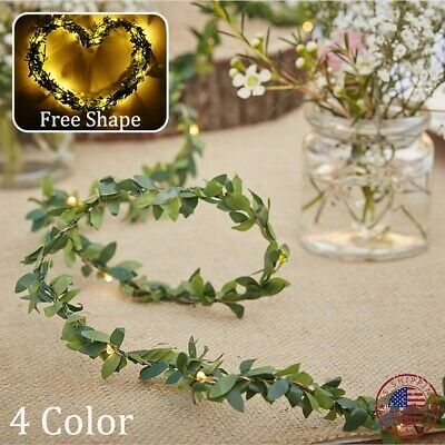 100 LED String Light Vine Fairy Leaves Wedding Party Christmas Decor Natural 10M ()