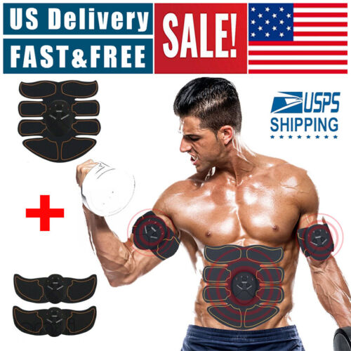 Ultimate EMS AB & Arms Muscle Simulator ABS Training Abdominal Trainer 8 Pad Set Abdominal Exercisers
