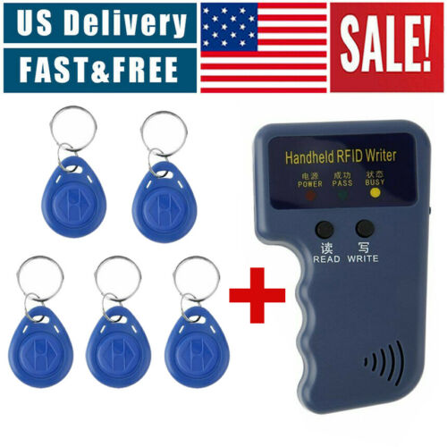125KHz Handheld RFID ID Card Copier Key Reader Writer Duplicator+5PCS Tags US Access Control Equipment