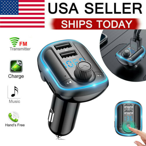 Car Wireless Bluetooth FM Transmitter Radio Adapter Kit MP3 Player 2 USB Charger Consumer Electronics