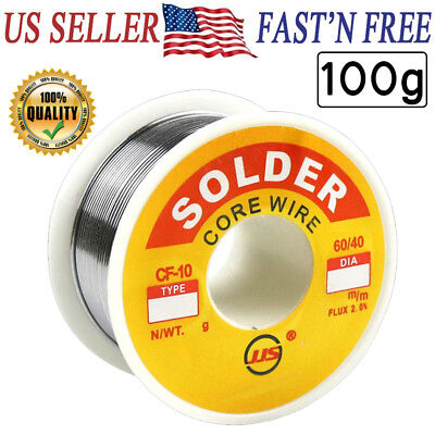 6040 Tin Lead Rosin Core Flux Solder Wire For Electrical Solderding 1.0mm 100g