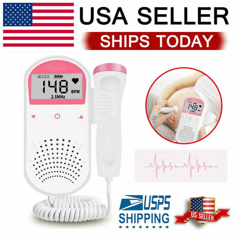 Fetal Doppler Baby Heartbeat Detector Ultrasonic Monitor Prenatal 2.5 MHz Probe