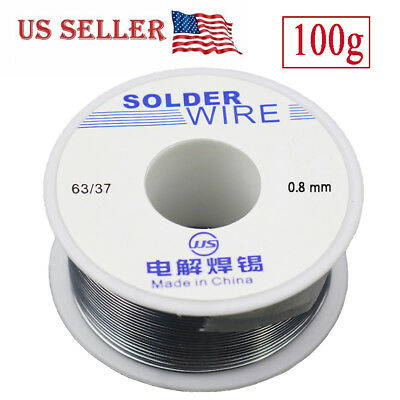 6337 Tin Lead Rosin Core Flux Solder Wire For Electrical Solderding 0.8mm 100g