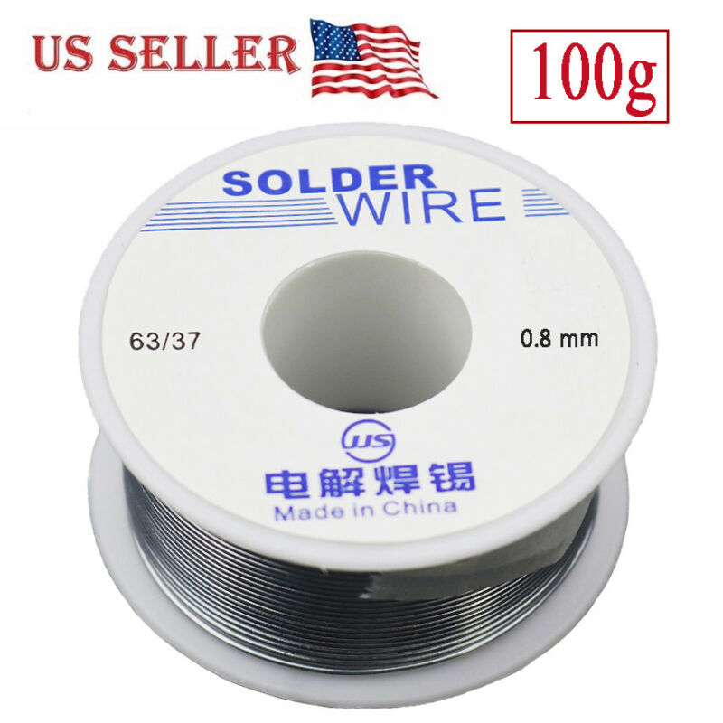 63/37 Tin Lead Rosin Core Flux Solder Wire for Electrical Solderding 0.8mm 100g
