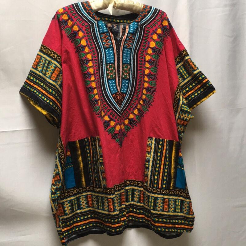 Bright Ethnic Dashiki Top Size 2X