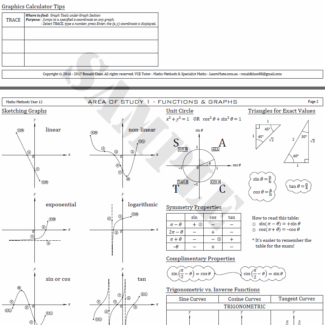 VCE Maths Methods & VCE Specialist Maths Tutor!