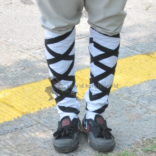Shaolin Monk Training Leg Wraps Ankle Guards for Kung fu Uniform Suit Socks