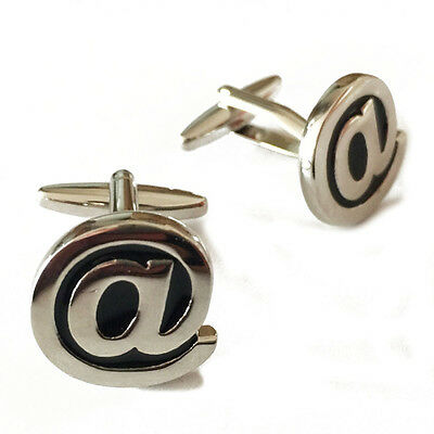 1 Pair At Sign Cufflinks At Symbol  Cufflinks   Symbol Cufflinks Email Symbol