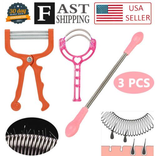 3PCS Facial Hair Spring Remover Bend Epilator Stick Hair Rem