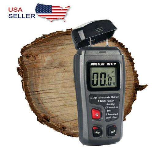 Digital LCD Wood Moisture Meter Detector Tester Wood Firewood Paper Cardboard Business & Industrial