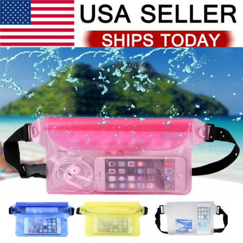 Waterproof Pouch Underwater Swimming Phone Pocket Dry Bag Fanny Pack Waist Strap Accessories