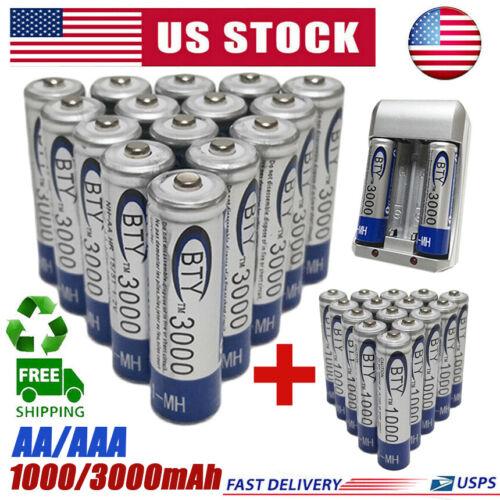 3000/1000mAh AA/AAA Battery 1.2V Rechargeable Batteries For LED Flashlight Lot Consumer Electronics