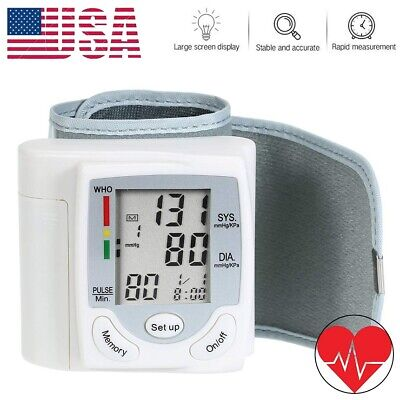 Blood Pressure Monitor Auto Heart Rate Checker Bp Cuff Wrist Pulse Arm Meter Us