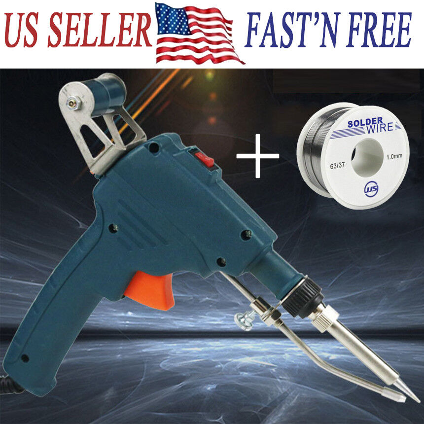 60W Auto Electric Soldering Iron Gun With FLUX 2/% Solder Wire Tin wire 50g BO