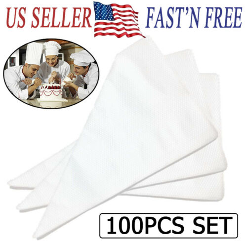100pcs Large Disposable Pastry Bag Icing Piping Cake Cupcake