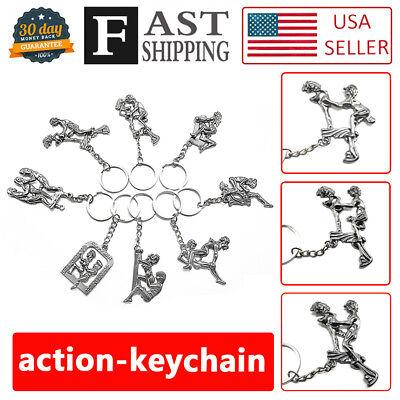 8pcs Novelty Moving Adult Keychain Key Ring Couple Game Toys Secret Adults Gift (Novelty Game)