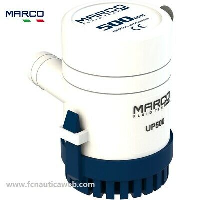 Pompa di sentina MARCO a immersione 12v 32lt//min MADE IN ITALY barca gommone