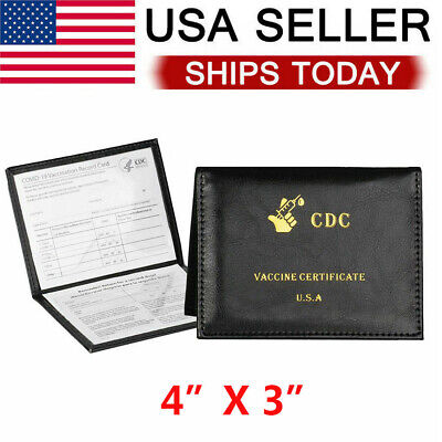 """Vaccination Card Protector 4x3"""" Protect CDC Vaccine Card Holder New Wallet US"""