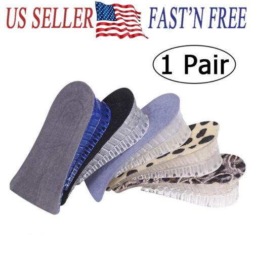 Silica gel Shoe Insole Lift Heel Inserts unisex 2 Layer Heig