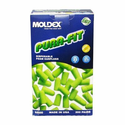 Moldex Pura Fit 6800 Earplugs Uncorded 200/Box  NRR 33 ** Free US Shipping ** Business & Industrial