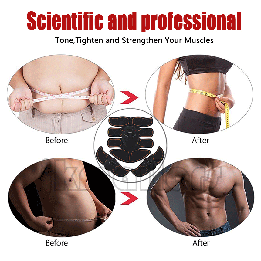 Ultimate EMS AB & Arms Muscle Simulator ABS Training Home  Abdominal Trainer Set