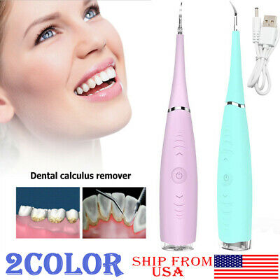 Electric Ultrasonic Tooth Cleaner Oral Irrigator Teeth Stain Dental Cleaning Kit