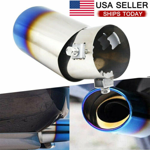 Auto Car Exhaust Pipe Tip Tail Muffler Stainless Steel Replacement Accessories D Car & Truck Parts
