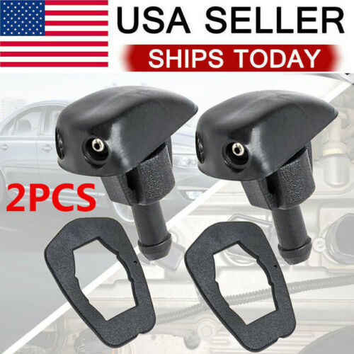 Universal DUAL Hole Windshield Washer Nozzle Wiper Water Spray Jet Adjustable Car & Truck Parts